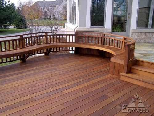 Epay wood the best decking material for Best material for deck